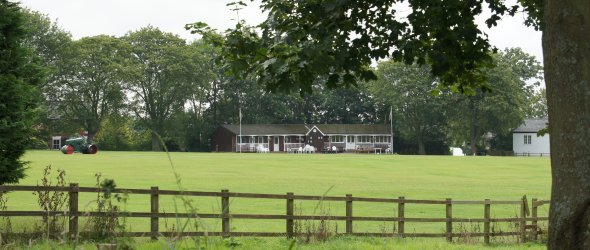 View of cricket club and field